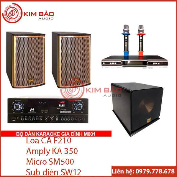 Bộ dàn Karaoke gia đình chuẩn M001