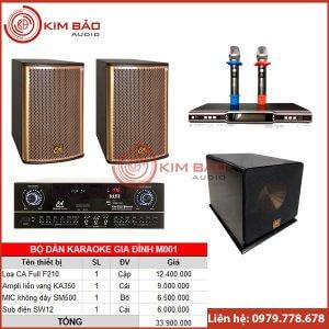 Bộ dàn Karaoke gia đình M001