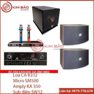 Bộ dàn Karaoke gia đình chuẩn M002