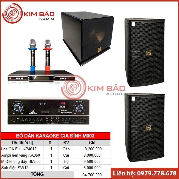Bộ dàn Karaoke gia đình M003