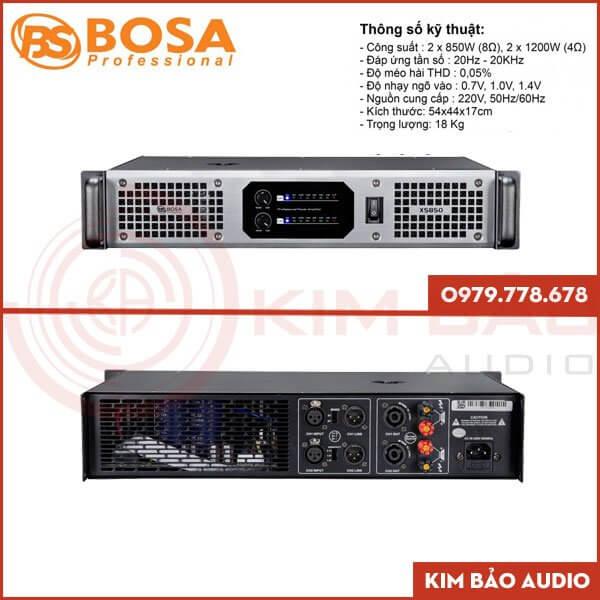 Main Bosa XS850 - Cục đẩy XS850