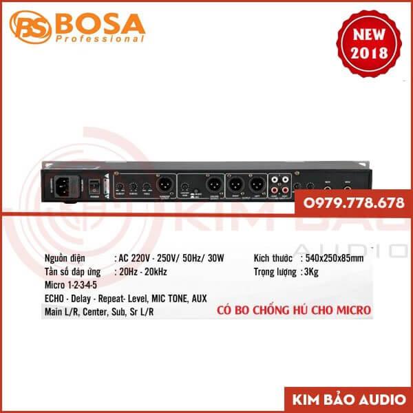 Mặt sau Vang cơ Bosa KMF5 giá rẻ