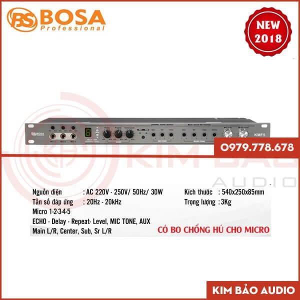 Mặt trước Vang cơ Bosa KMF5 giá rẻ