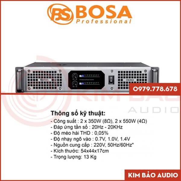 Main Bosa XS850 – Main 2 kênh mặt trước