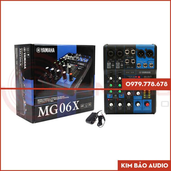 Mixer Yamaha MG06X Full hộp (Bàn Mixer Mini)