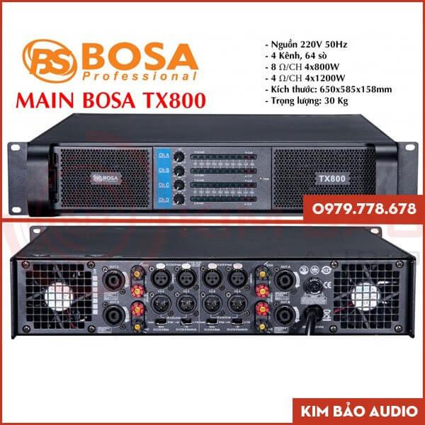 Main 4 Kênh Bosa TX800 - Chính hãng