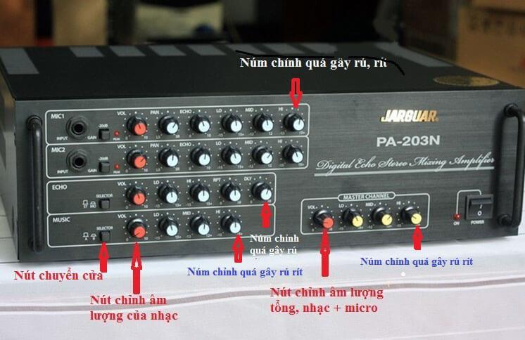 Cách chỉnh Amply karaoke không gây hú rít