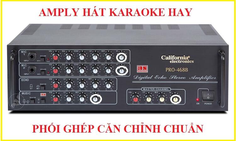 Hướng dẫn cân chỉnh Amply khi hát Karaoke chuẩn nhất