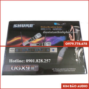 Micro không dây Shure UGX9III A+ Hộp đựng