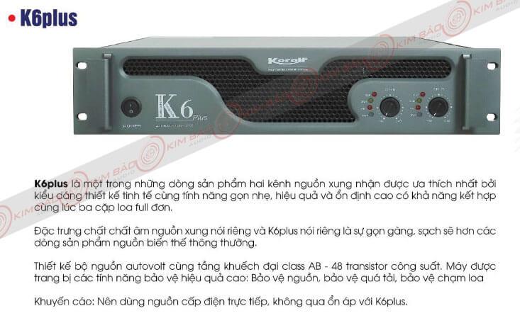 Giới thiệu Main công suất Korah K6 Plus