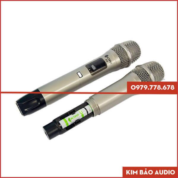 Micro Karaoke không dây Kiwi A6 Tay cầm