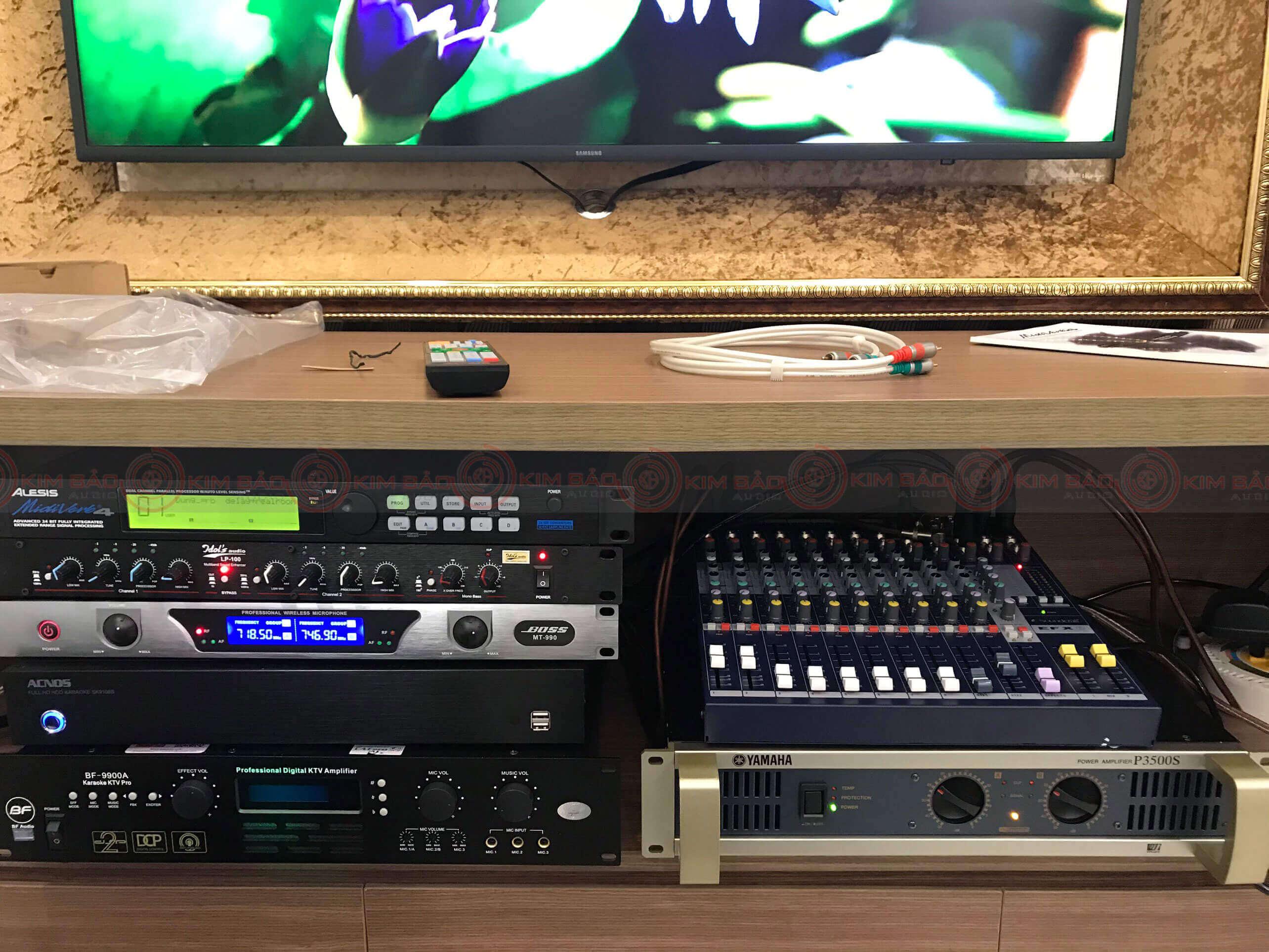 Tất cả thiết bị âm thanh sau khi nâng cấp Dàn Karaoke