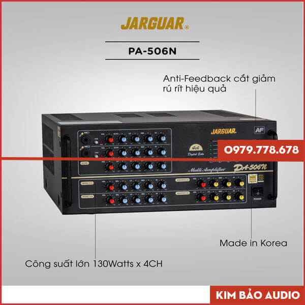 Amply Jarguar PA 506N Anti Feedback Chính hãng