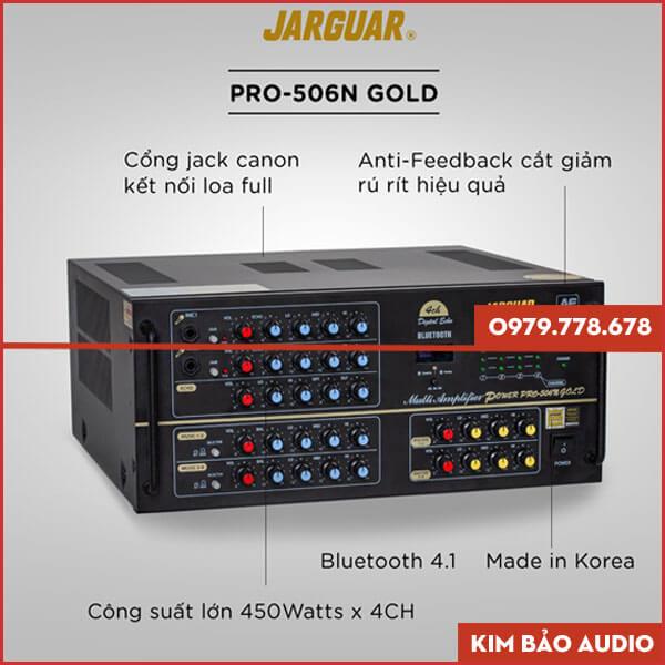 Amply Jarguar PA 506N Gold Anti Feedback Chính hãng