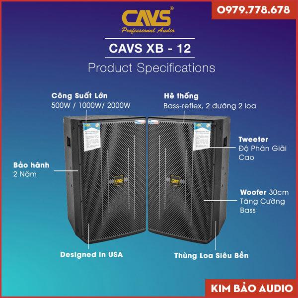 Loa Full CAVS XB12 (Thông số)