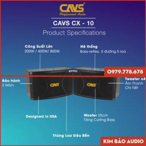 Loa Karaoke CAVS CX10 (Thông Số)