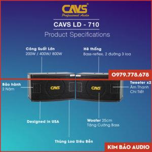 Loa Karaoke CAVS LD710 (Thông Số)