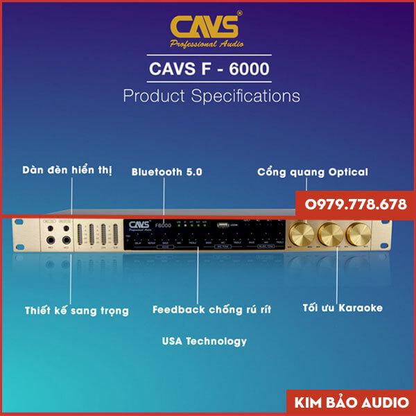Vang cơ CAVS F6000 - Vang cơ Karaoke