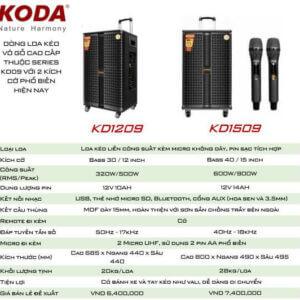 Loa kéo Koda KD1209-KD1509