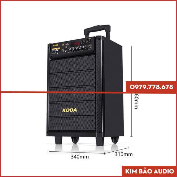 Loa kéo Koda KD1208 (Kích thước)