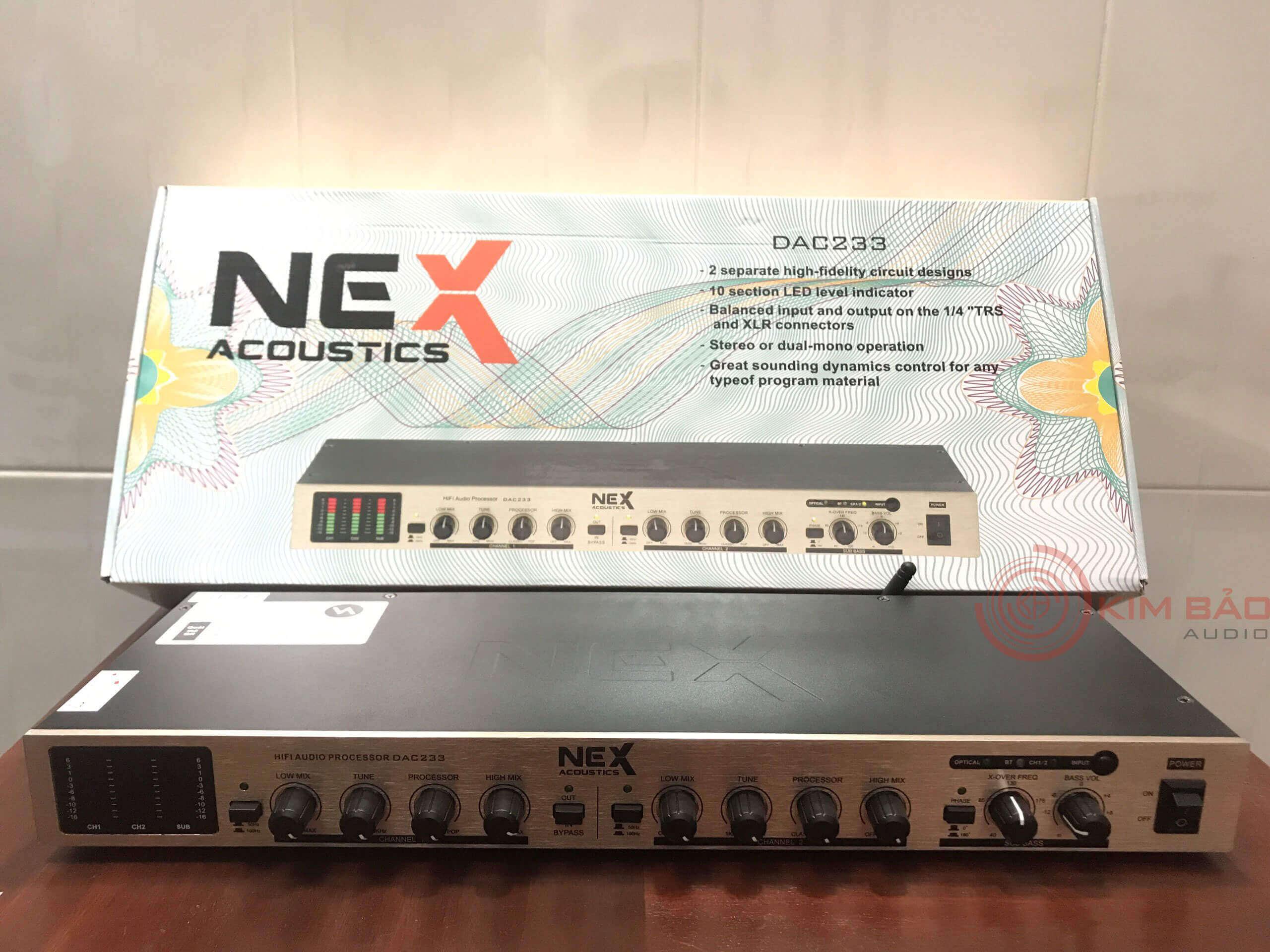 Máy nâng tiếng Nex DAC 233 Mặt trước