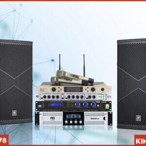 Cục đẩy AM 9004 Pro kết hợp bộ dàn Karaoke