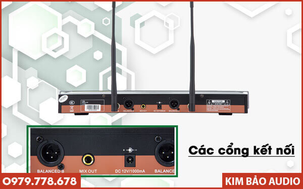 Micro không dây VinaKTV S800 Pro - Mặt sau