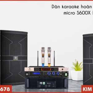 Micro VinaKTV S600X Max - Kết hợp bộ dàn