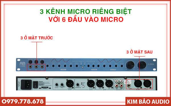 Vang cơ AM K890A - Nhiều cổng kết nối cho Micro