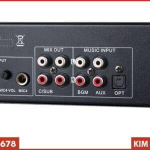 Vang cơ liền số AM K8600 - Mặt sau