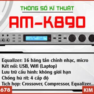 Vang số AM K890 - Tính năng vượt trội