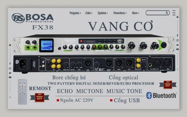 Vang cơ Bosa FX38 - Chính Hãng Bosa Audio